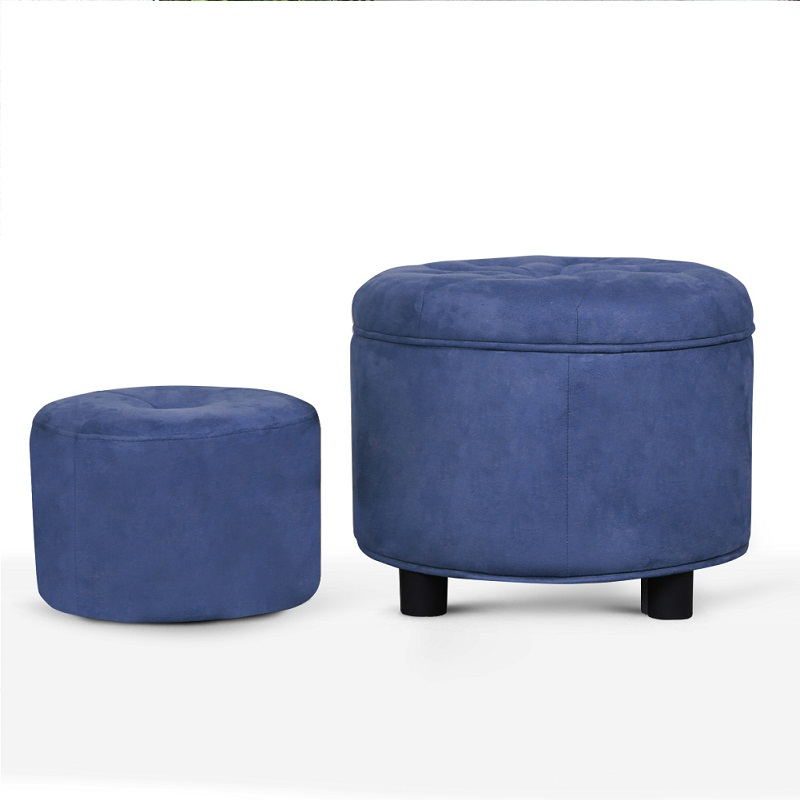 Delivery 3~7 days Brown Ottoman Fabric Covered Ottoman Stool