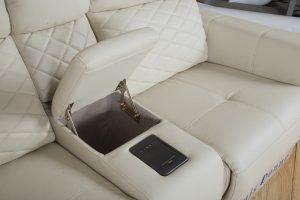 Corner Sofa Leather Air Recliner Sofa Set