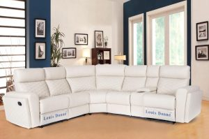 Hot Sale Wholesale Price White Corner Sofa Leather Air Recliner Sofa Set