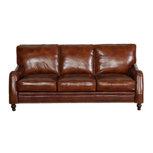 Top Leather American Style Sofa Mid-Century Classical Sofa