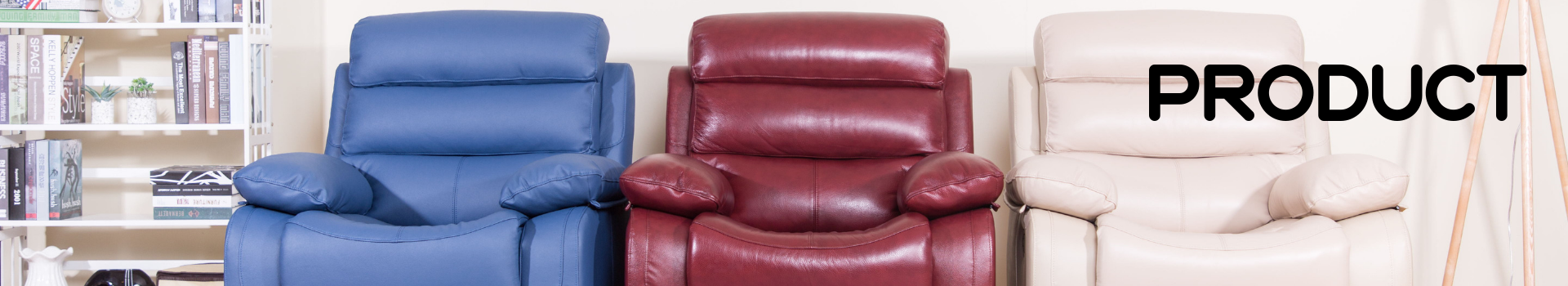 Modern Red High Back Leather Reclining Sofa Set