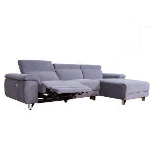Decoro corner fridge sofa Square fabric Recliner sofa set Sectional Corner Sofa