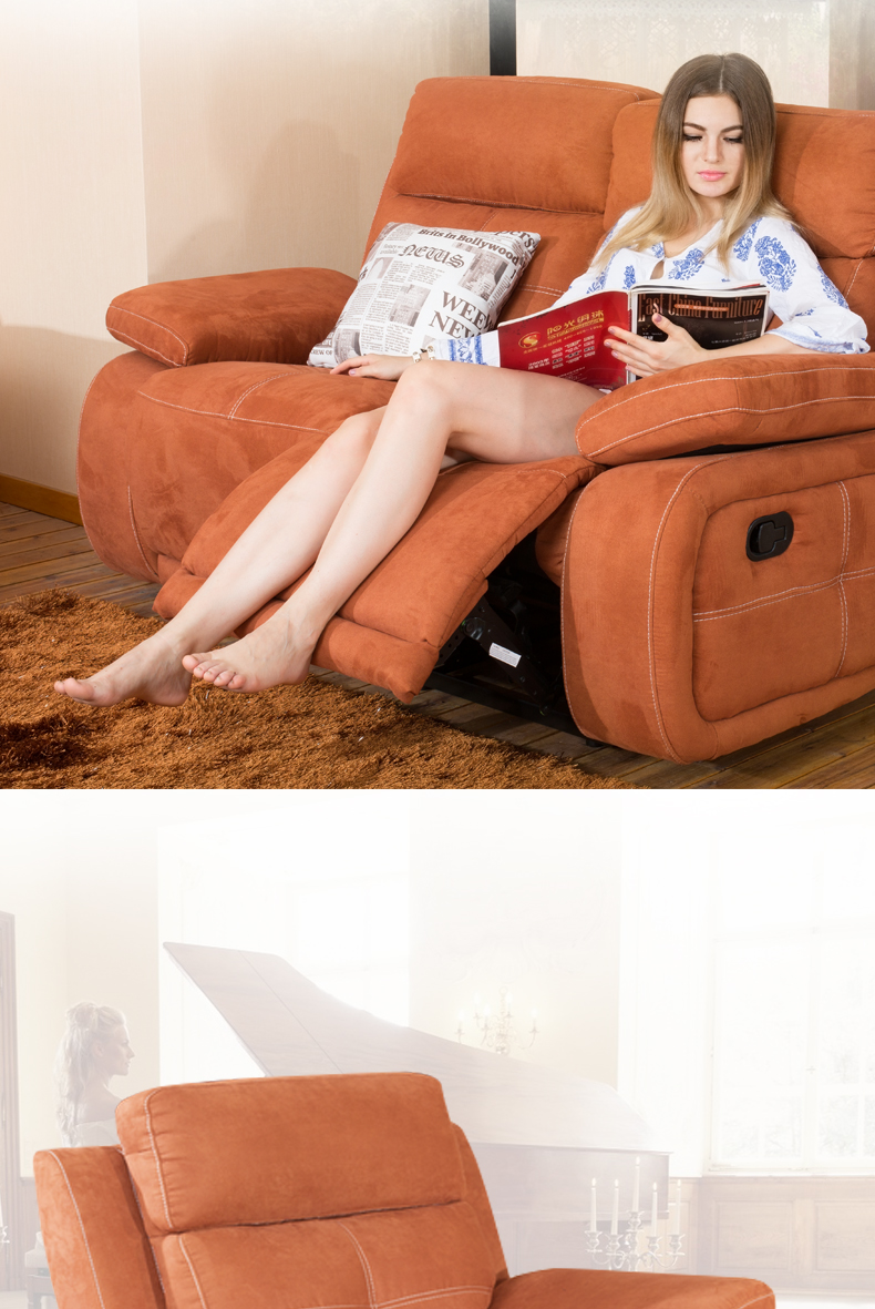 Best and most most comfortable big orange rocker recliner chair
