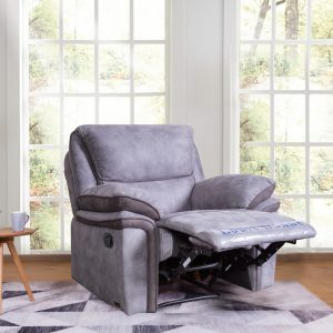 modern grey Fabic recliner sofa living room