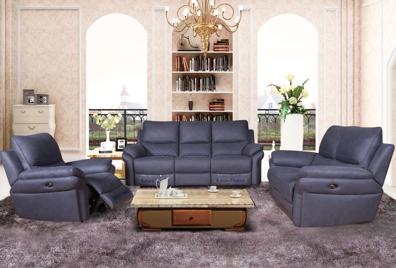 electric recliner sofa set