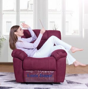 fabric electric recliner sofa