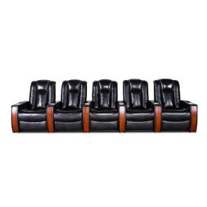 home theater leather sofa