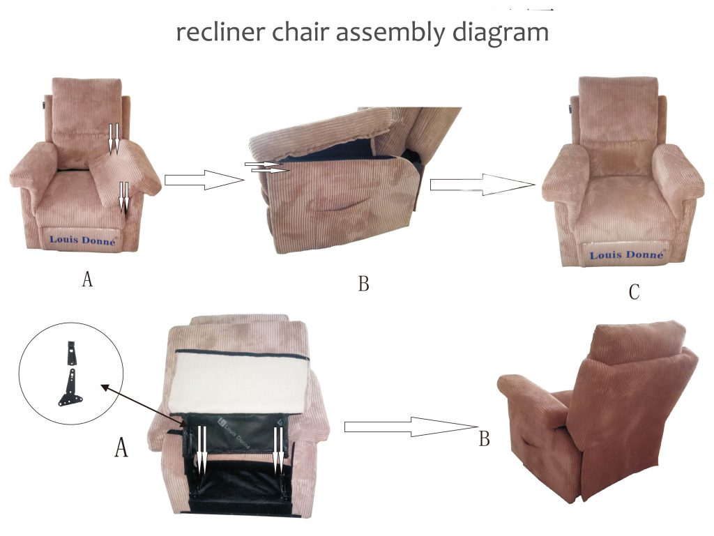 fabric recliner sofa