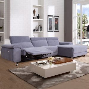 modern l shape fabric electric recliner sofa sofa for small living room
