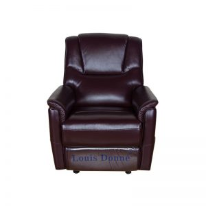 Modern Small Brown Leather Recliner Single Sofa Chair