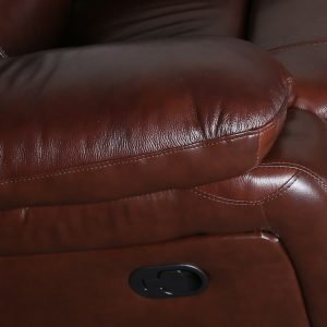 double recliner sofa with console