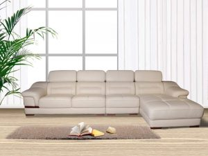 White L Shape Sectional Recliner Sofa with Chaise