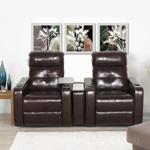 2 Seater Home Theatre Lounge Suite with Computer Board for Sale