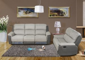 Modern fabric recliner chair living room sofa