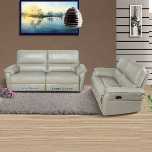 High Quality Real Leather Sofa and Recliner Set