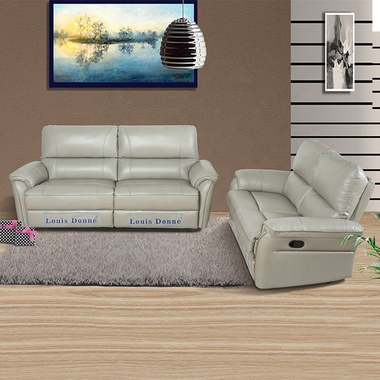 real leather reclining sofa