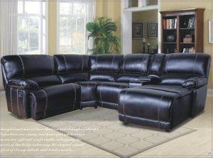 black leather corner sofa