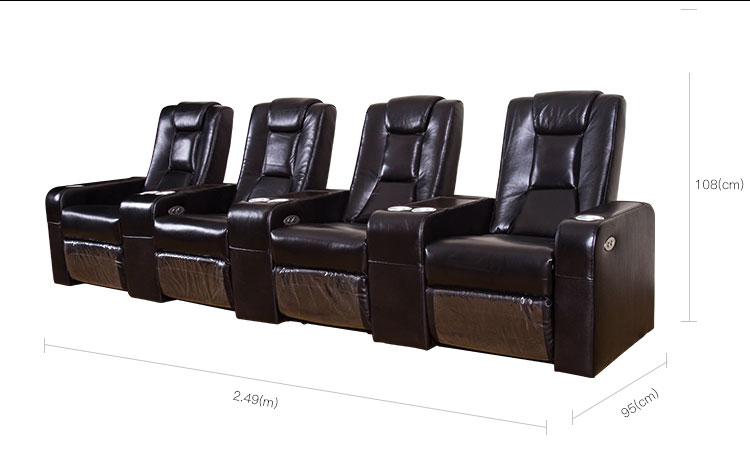 electric reclining sectional sofa