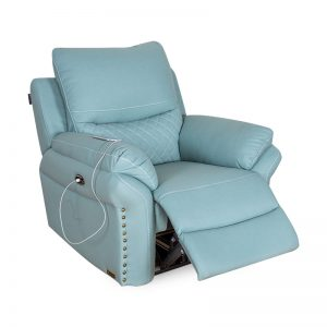 Best Luxury Light Green Electric Power  Rocker Recliner Chair