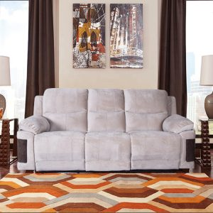Modern  Cream 2 Seater Fabric Love Sofa Recliner