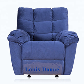 Best  Oversized Blue Fabric Modern Recliner Chair