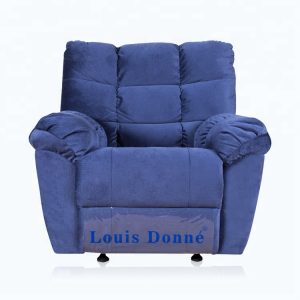 Best  Oversized Blue Fabric Modern Recliner Chair