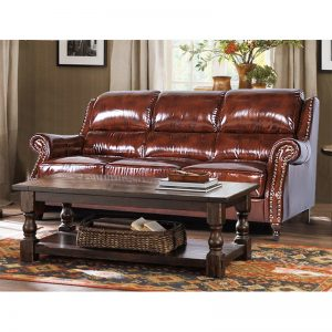 American Top Grain Leather Sectional Sleeper Sofa