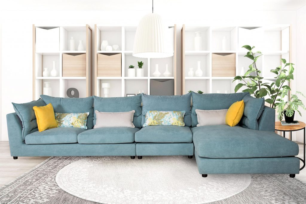 modern sofa with chaise