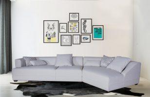 Cheap Economical White Modern Sofa for living room