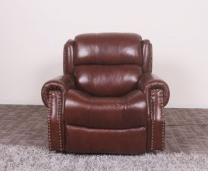 Comfortable American Style Red Leather Electric Recliner Chair