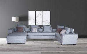 light grey modern sofa