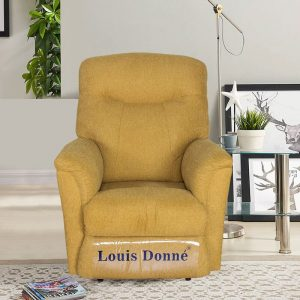 Best Plush Yellow Massage Recliner Sofa Chair in Living Room