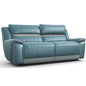 Classic loveseats leather electric recliner sofa