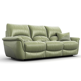 New grass green 3 seater electric recliner sofa