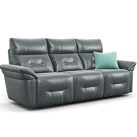 New grey 3 seaters leather electric living room recliner sofa
