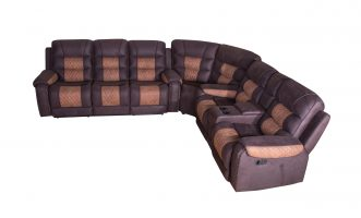 Large Traditional Classic American Sleeper Corner  Recliner Sofa