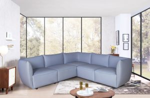 Comfortable Modern Small Light Grey Affordable Corner Sofa for Sale