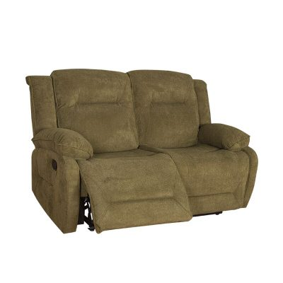 2020 Trendy Comfortable 2 Seater Green Fabric Recliner Sofa