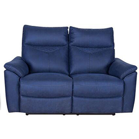 Factory-direct two seater loveseat fabric recliner sofa