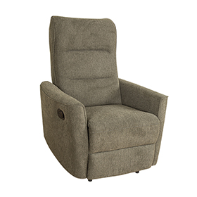 Promotional Small Size Green Fabric Manual Recliner Chair