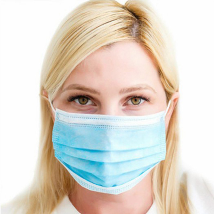 Colors Hospital Grade 3 Ply Ear Loop Non Woven Nonwoven Dustproof Anti Flu Virus Doctor Breathing Disposable Face Masks