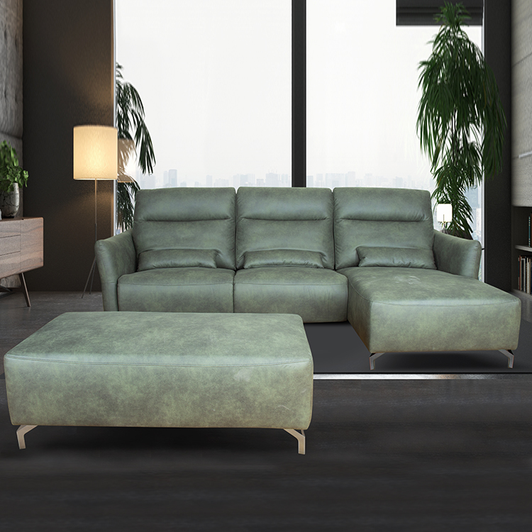 Leather Corner Sofa Manufacturer, Leather Corner Sofa, Electric Corner Chaise Sofa With Ottoman