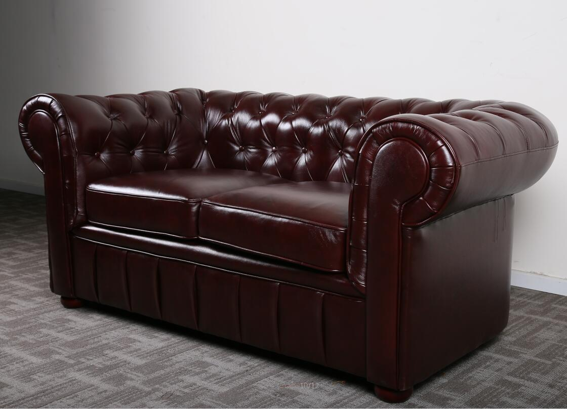 Classic chesterfield sofa production process